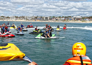 NSRI Jetski run from St Francis Bay to Jeffreys Bay